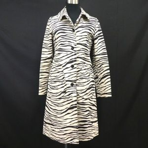 Vintage MARC JACOBS Zebra snap button trench coat